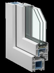 Пластиковые окна Века - EUROLINE 58мм